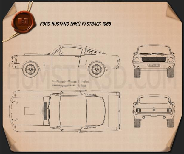 Ford Mustang Fastback 1965 Blueprint