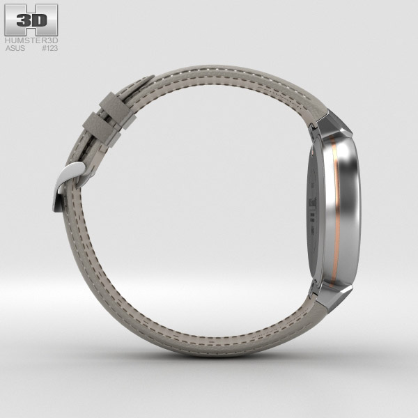 asus zenwatch 3 silver 3d model hum3d. Black Bedroom Furniture Sets. Home Design Ideas