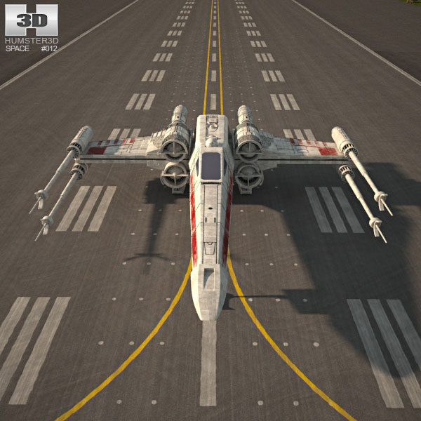 T 65 X Wing Fighter 3d Model Spacecraft On Hum3d