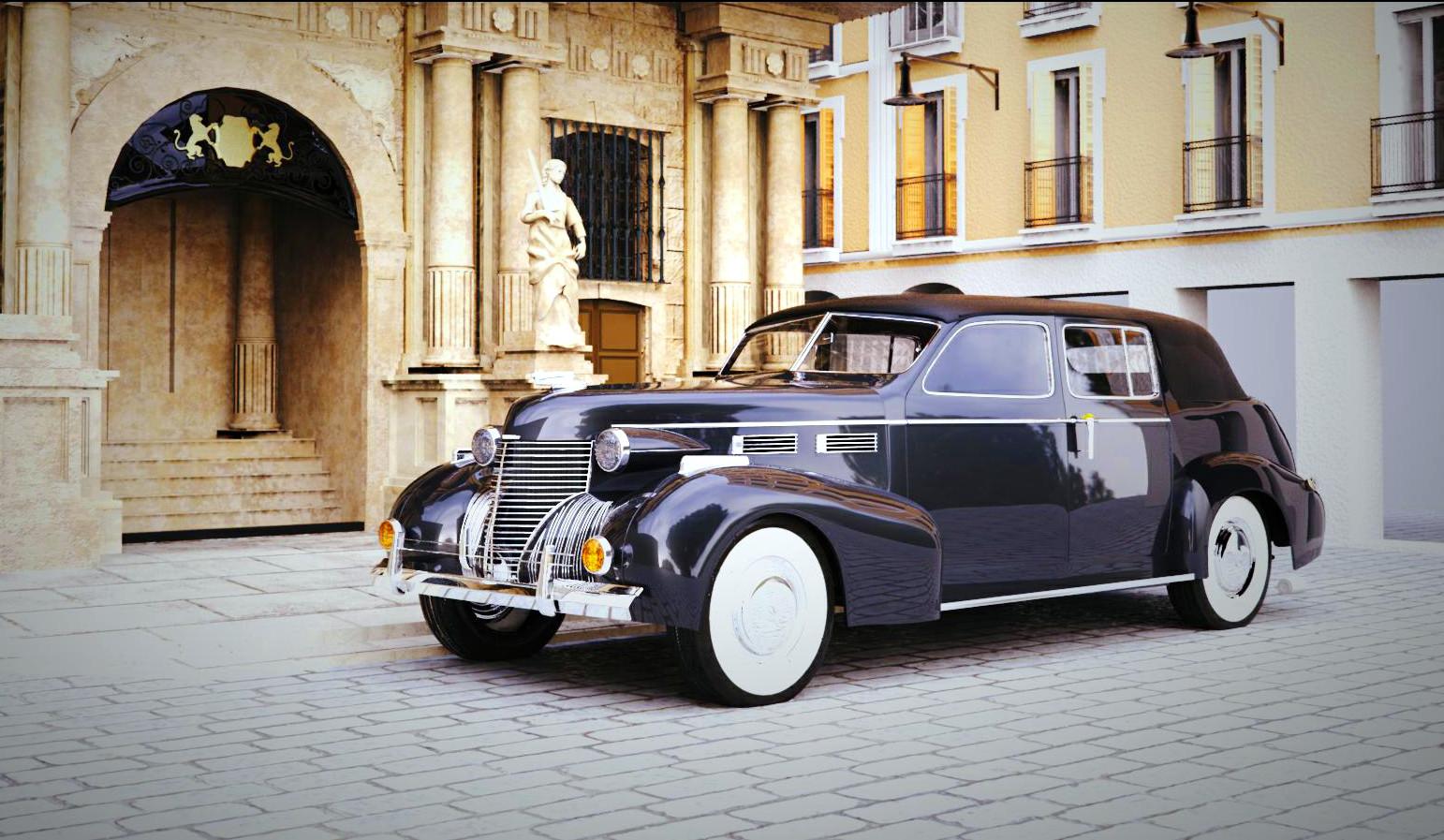 A classic wedding car WIP