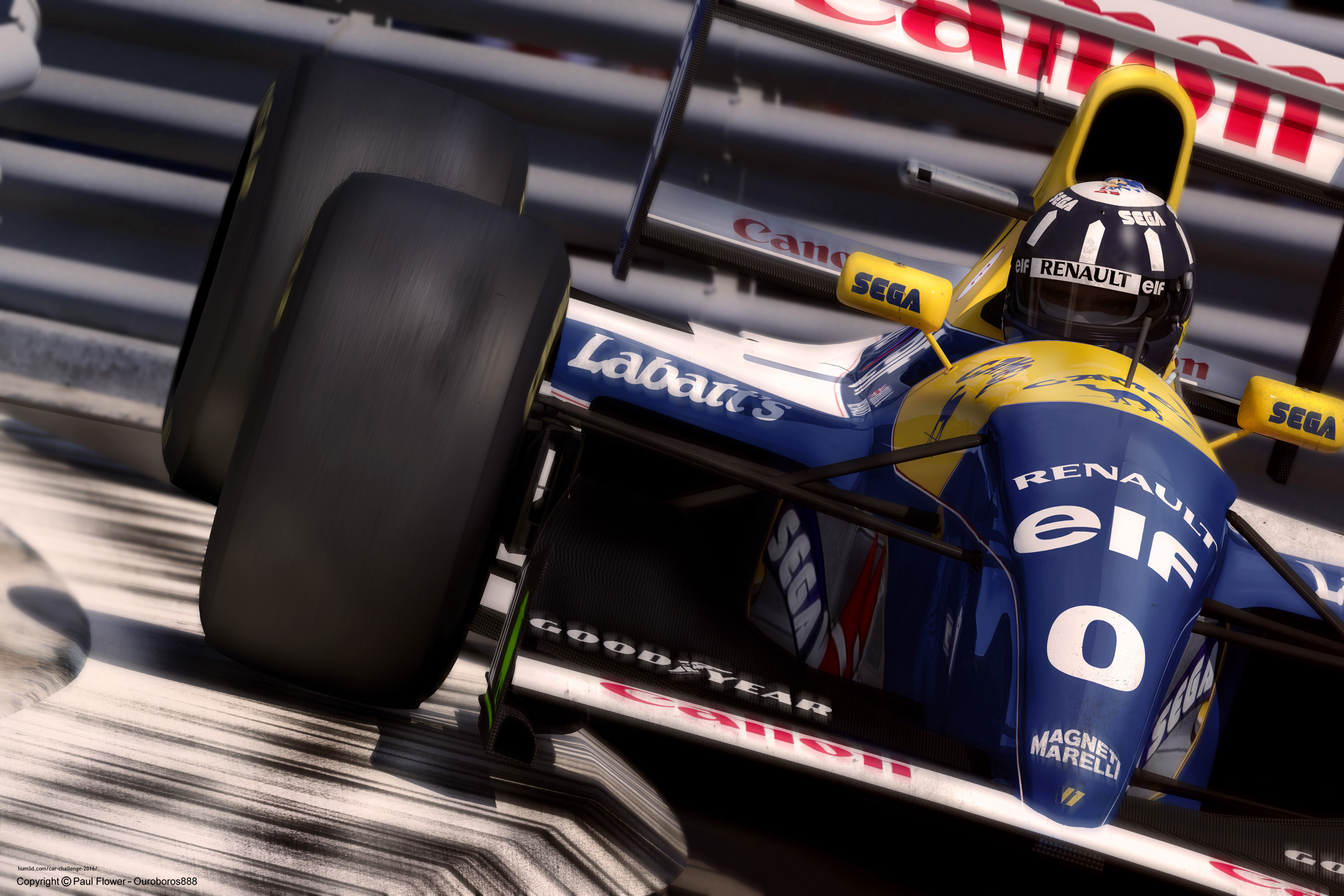 Damon Hill 3d art