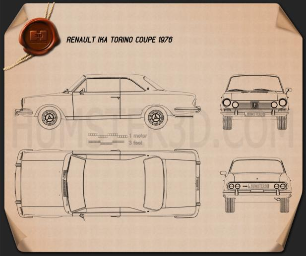 Renault IKA Torino Coupe 1976 Blueprint