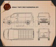 Renault Trafic Passenger Van 2014 Blueprint