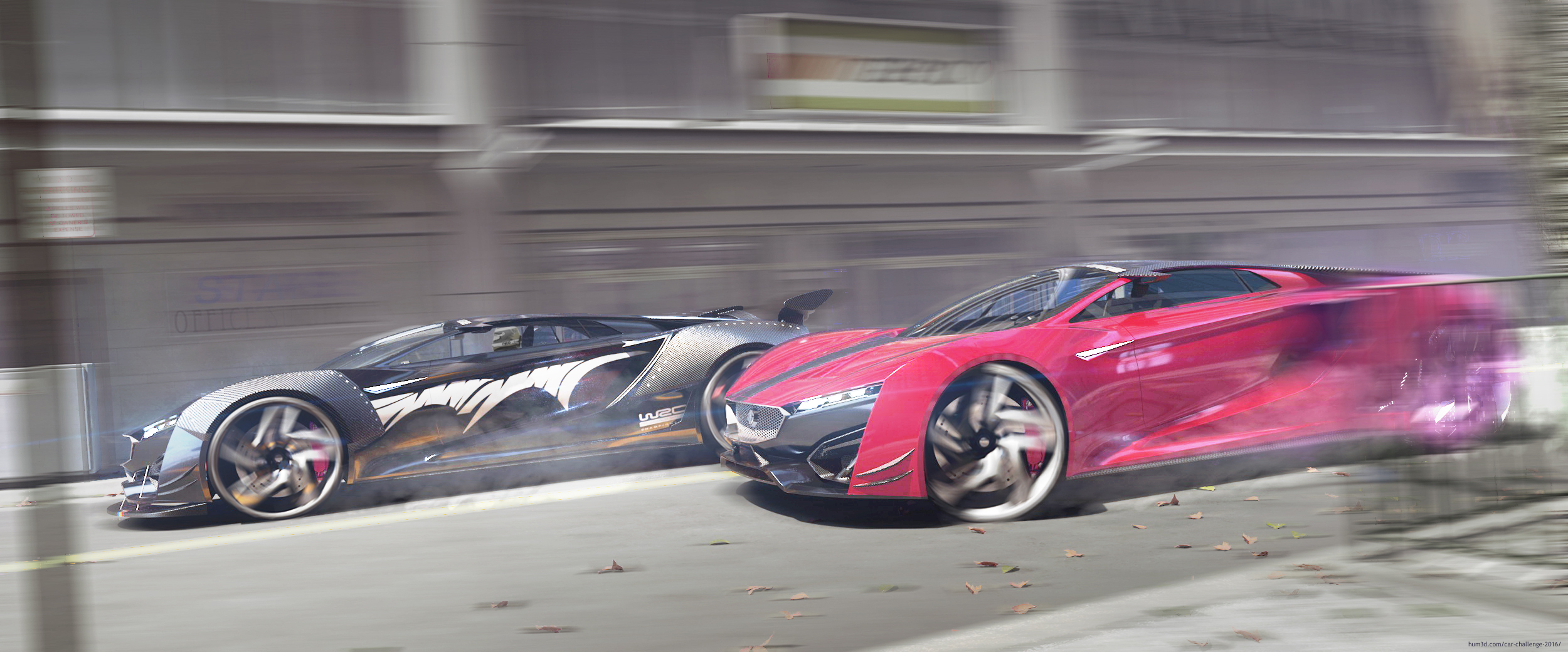 Concept car rendering 3d art