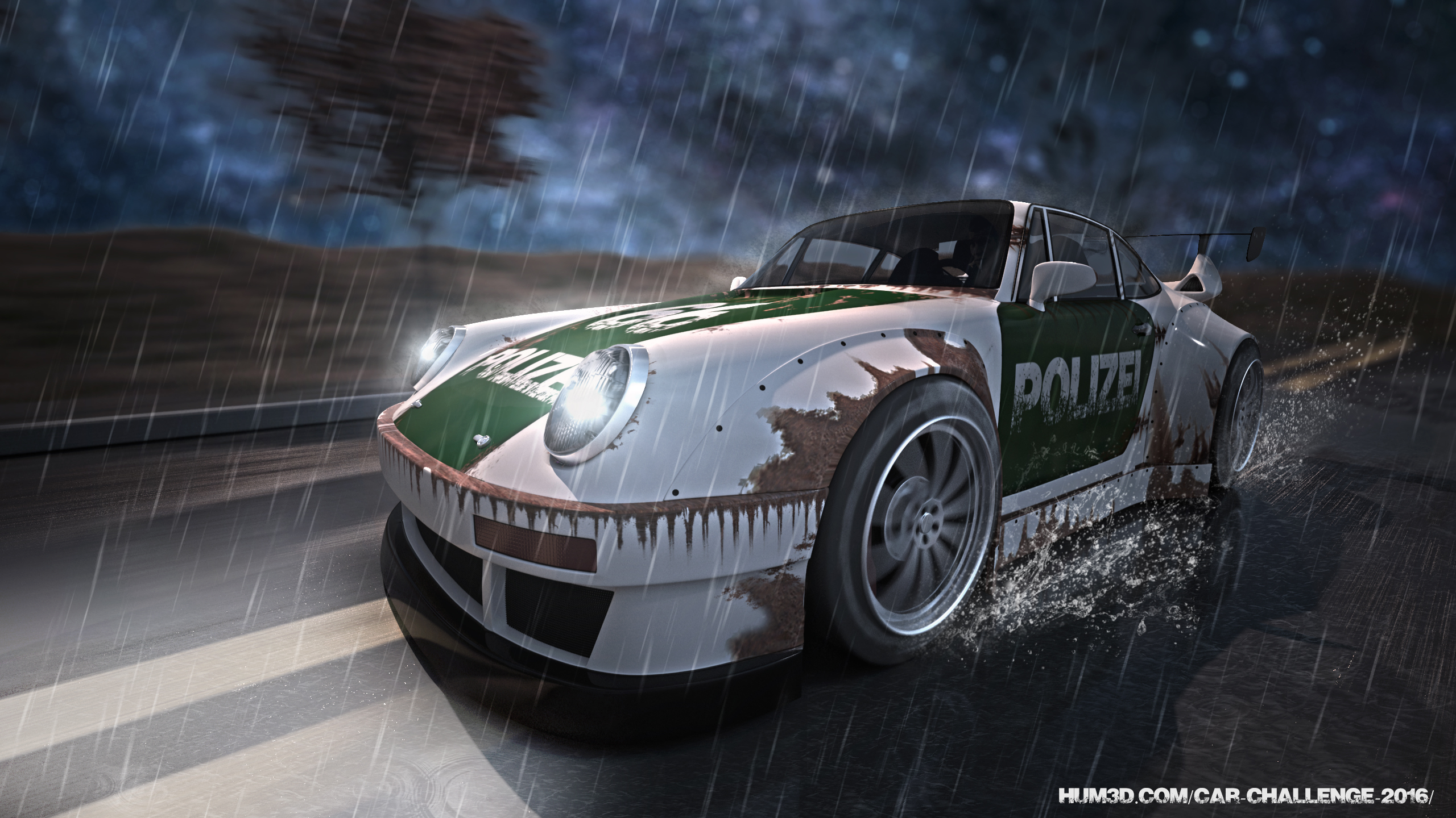 Old police Porsche 993 tuning