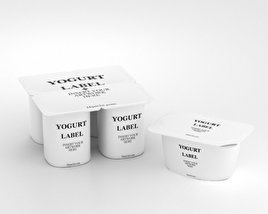 Yogurt Containers 3D model
