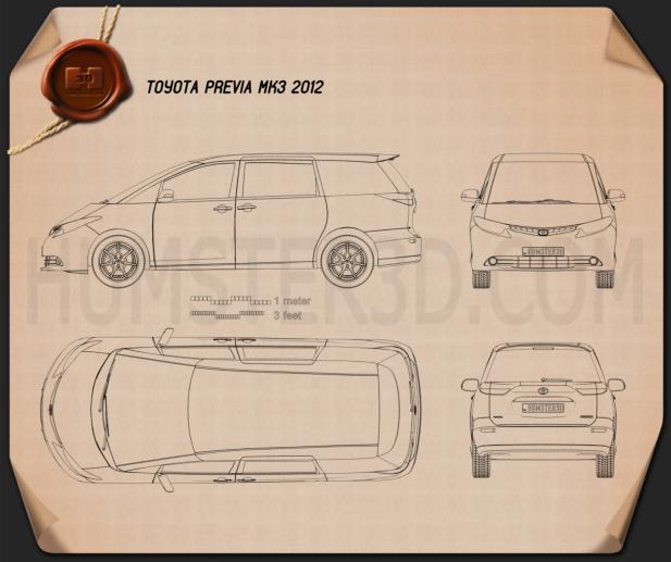 Toyota Previa 2012 Blueprint