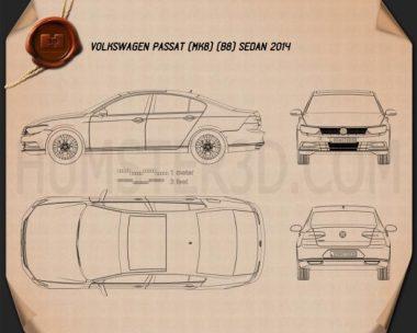 Volkswagen Passat (B8) sedan 2014 Blueprint