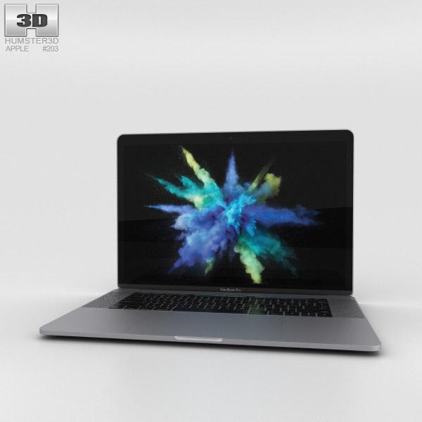 apple macbook pro 15 inch 2016 space gray 3d model hum3d. Black Bedroom Furniture Sets. Home Design Ideas
