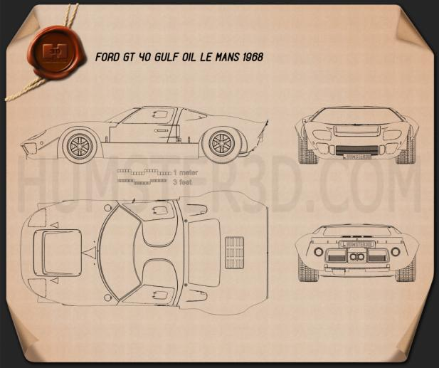 Ford GT40 1968 Blueprint
