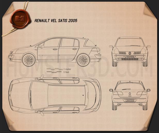 Renault Vel Satis 2005 Blueprint