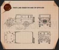 Toyota Land Cruiser (J40) Hard Top 1979 Blueprint