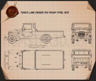 Toyota Land Cruiser (J40) Pickup 1979 Blueprint