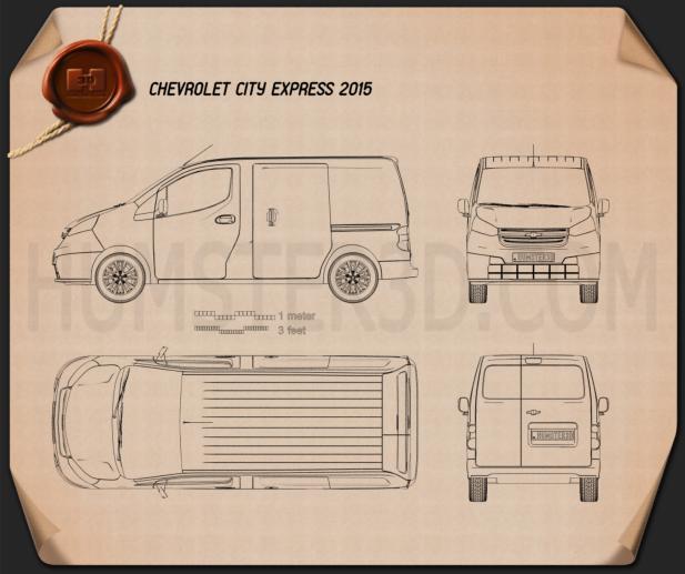 Chevrolet City Express 2015 Blueprint