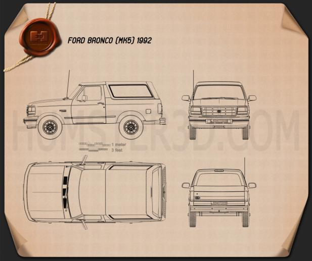 Ford Bronco 1992 Blueprint