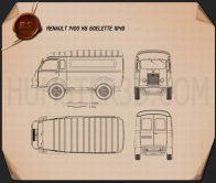 Renault Goelette (1400 kg) 1949 Blueprint