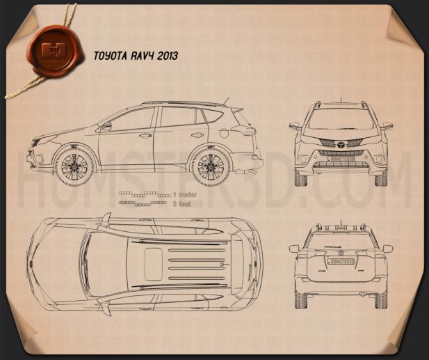 Toyota RAV4 2013 Blueprint