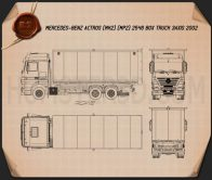 Mercedes-Benz Actros Box Truck 2002 Blueprint