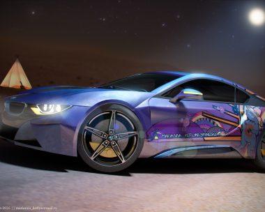Moonlight desert BMW i8