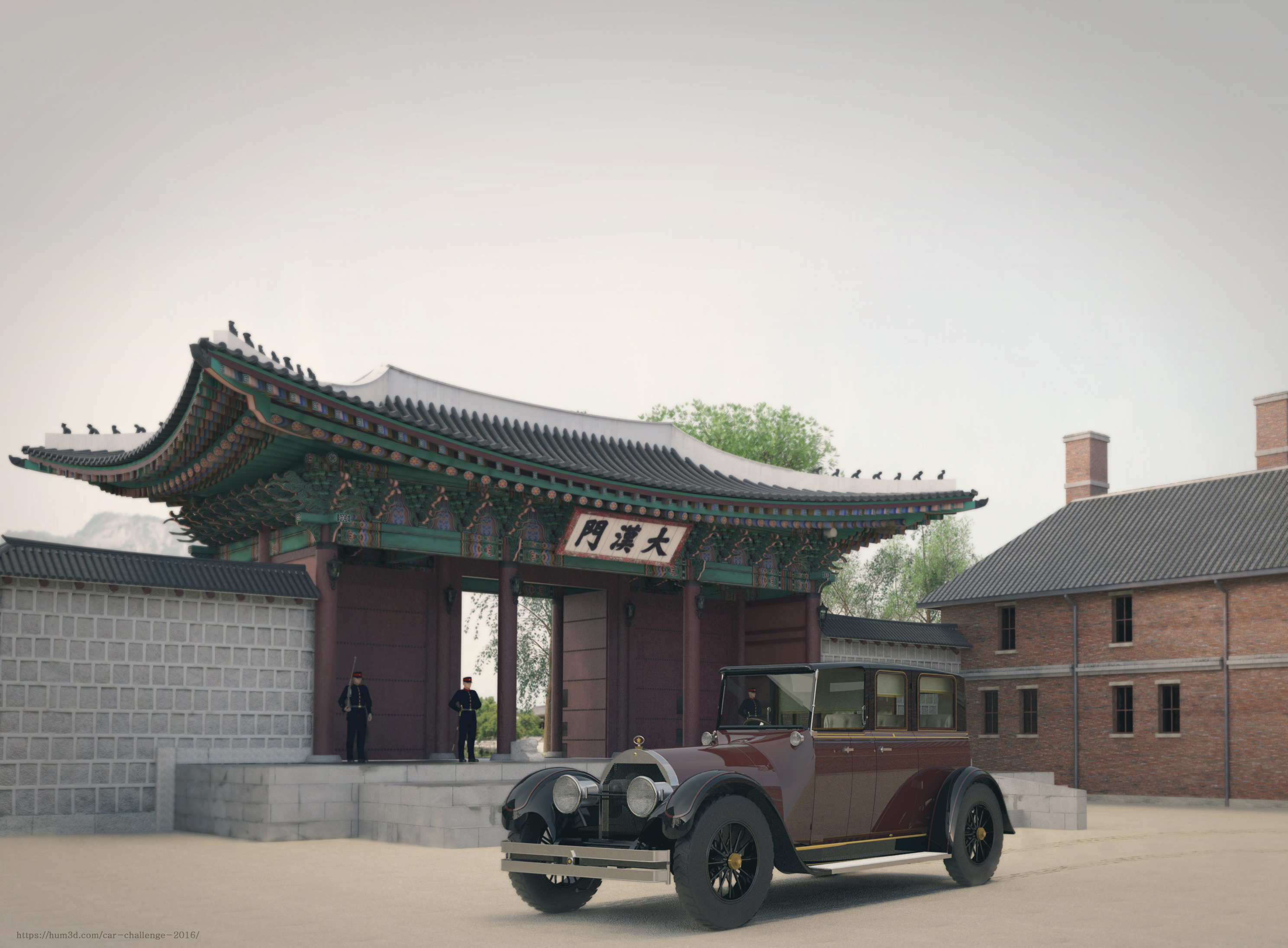 The First Car of The Last Empire 3d art