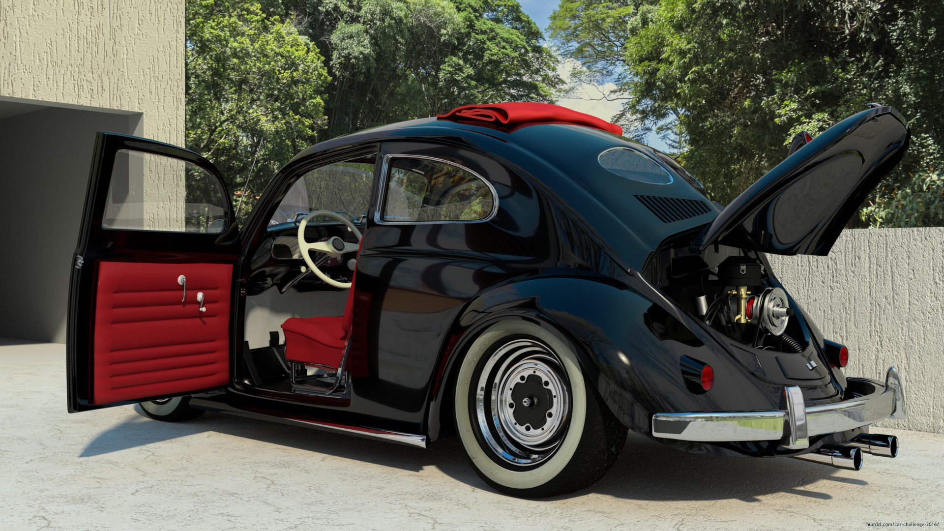 VW 52 Ragtop 3d art