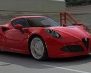 Alfa Roméo 4C on track