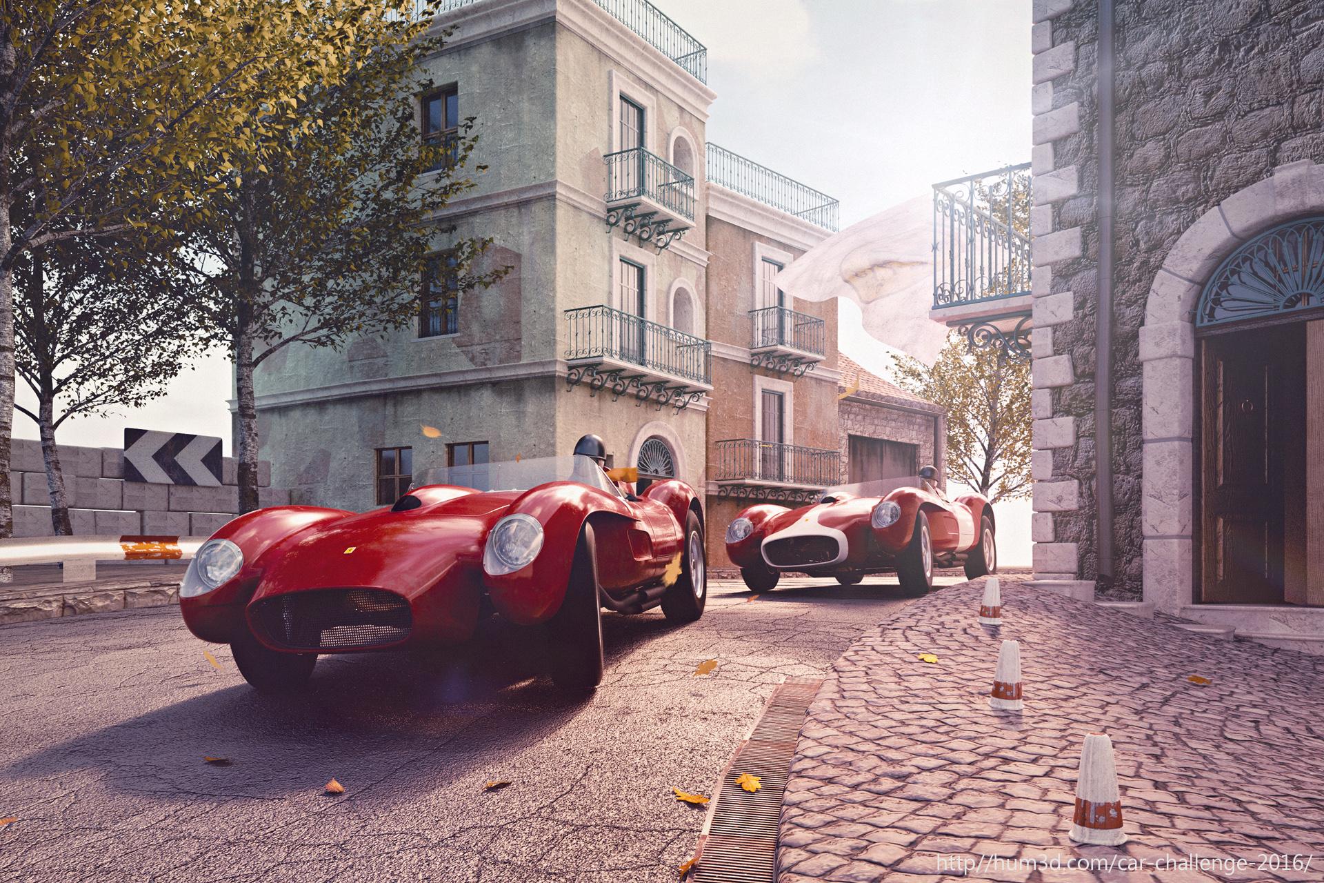 Ferrari 250 Testarossa, Targa Florio 1958 3d art