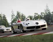 Sir Stirling Moss chasing the time