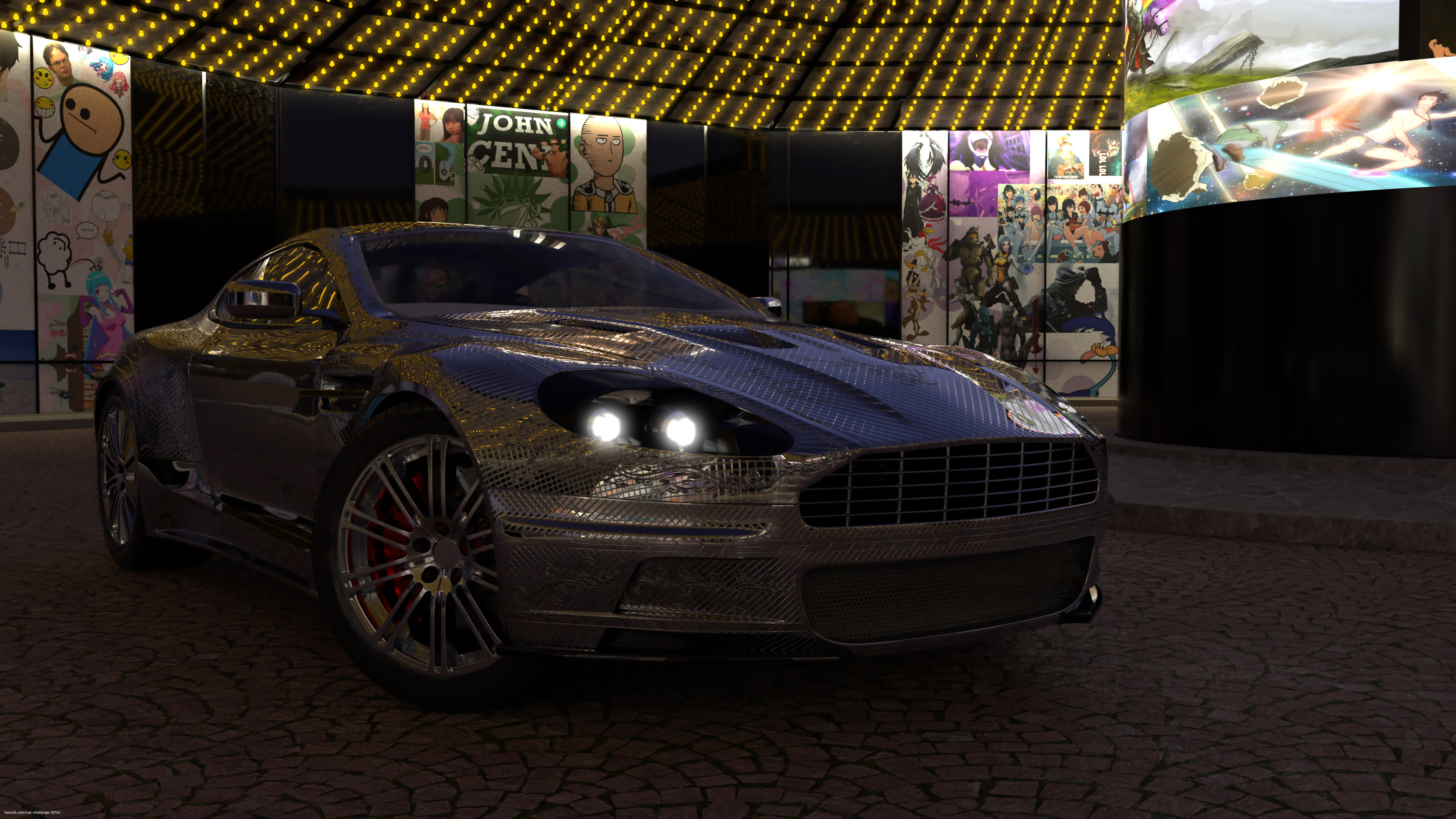 Aston Martin @ meme Central 3d art