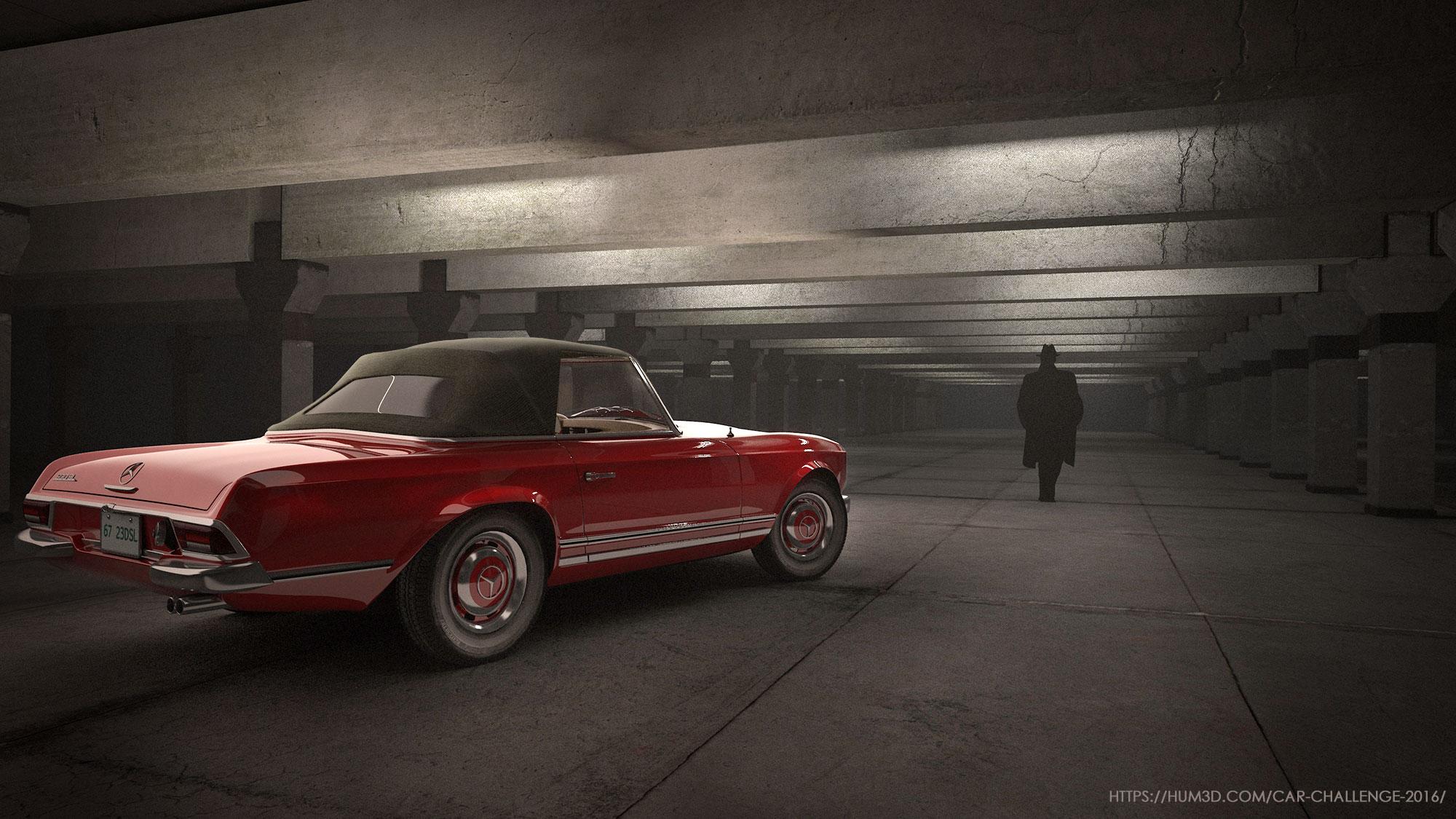 CRC 2016 - Mercedes-Benz W 113 230SL 3d art