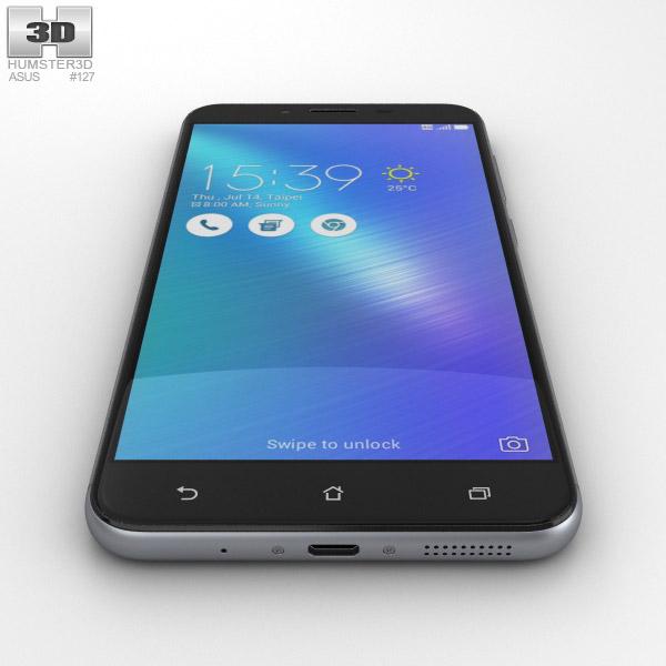 Asus Zenfone 3 Max ZC553KL Titanium Gray 3D Model