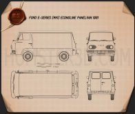 Ford E-Series Econoline Panel Van 1961 Blueprint