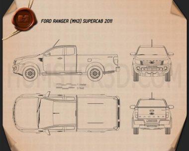 Ford Ranger Super Cab 2011 Blueprint