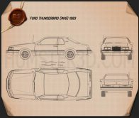 Ford Thunderbird 1983 Blueprint