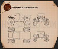 Ford F-150 Monster Truck 2012 Blueprint