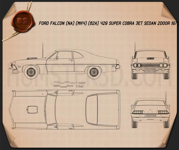 Ford Falcon 429 Super Cobra Jet 2-door 1970 Blueprint