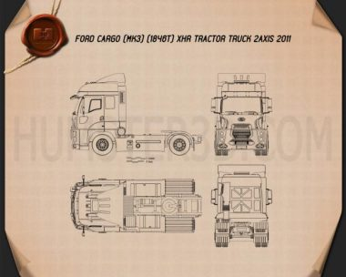 Ford Cargo XHR Tractor Truck 2011 Blueprint