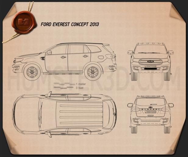 Ford Everest 2014 Blueprint