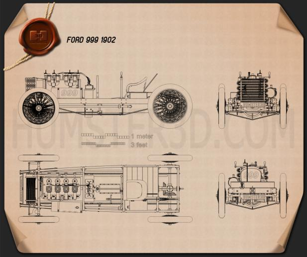 Ford 999 1902 Blueprint