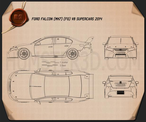 Ford Falcon (FG) V8 Supercars 2014 Blueprint