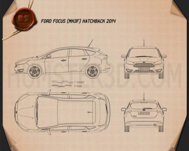 Ford Focus hatchback 2014 Blueprint