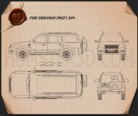 Ford Endeavour 2014 Blueprint