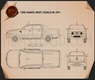 Ford Ranger Double Cab 2015 Blueprint