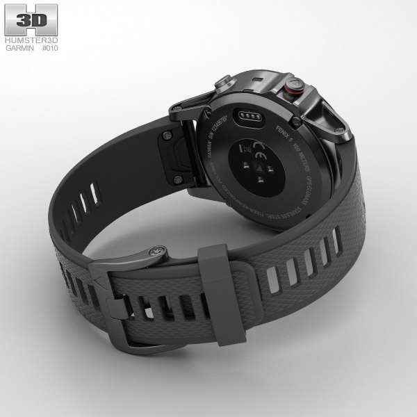 Black Slate Band : Garmin fenix slate gray with black band d model hum