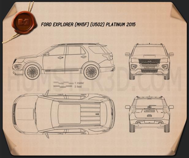 Ford Explorer (U502) Platinum 2015 Blueprint