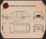 Mercedes-Benz E-class Wagon 1993 Blueprint