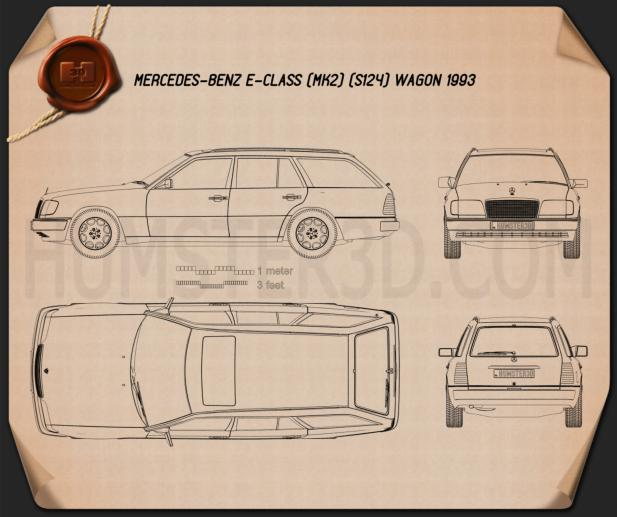 Mercedes-Benz E-class Wagon 1993 Blueprint