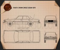 Toyota Crown sedan 1979 Blueprint