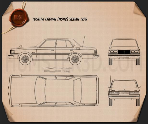 Toyota Crown sedan 1979 Blueprint