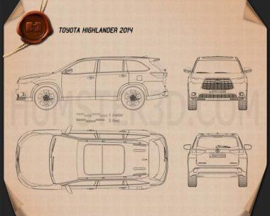 Toyota Highlander 2014 Blueprint